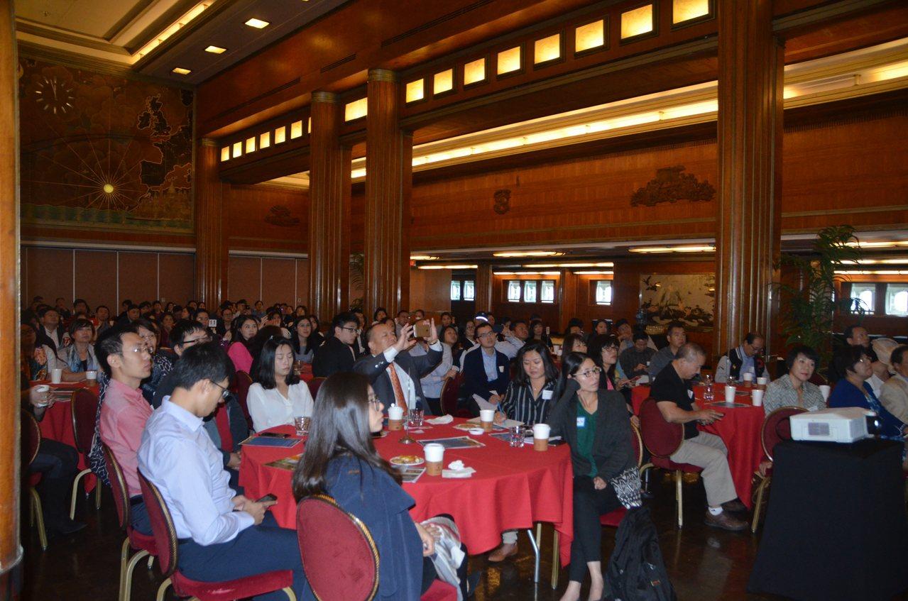 海外華人土木工程協會首次舉辦「華人土地開發、地產投資高峰研討會」,反響熱烈。(記...