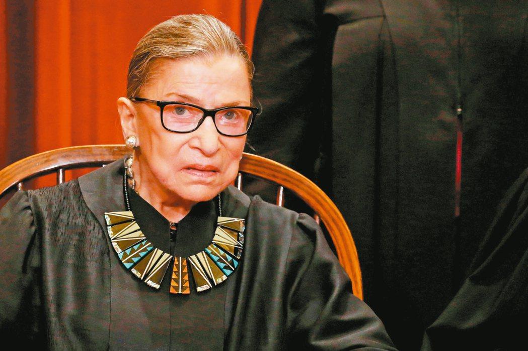 美國最高法院大法官金斯伯格的新書將在10月上市。 路透