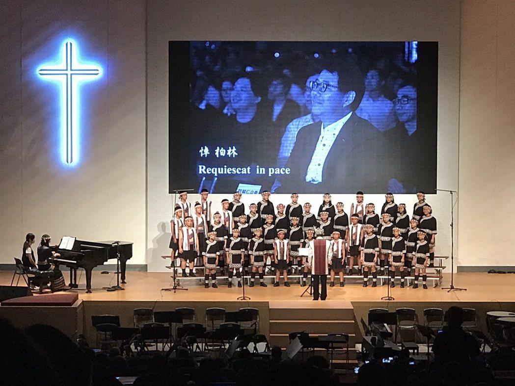 原聲童聲合唱團今晚在台南演出,以齊柏林最愛的一首日文歌「乘著氣球上天空」搭配齊柏