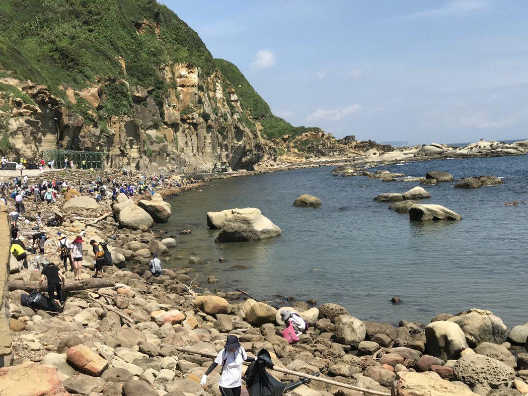 阿拉寶灣淨灘吸引近300人參與,秘境意外曝光。記者吳淑君/攝影