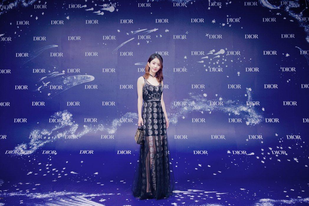 趙麗穎身穿2017秋冬系列刺繡裙裝。圖/Dior提供