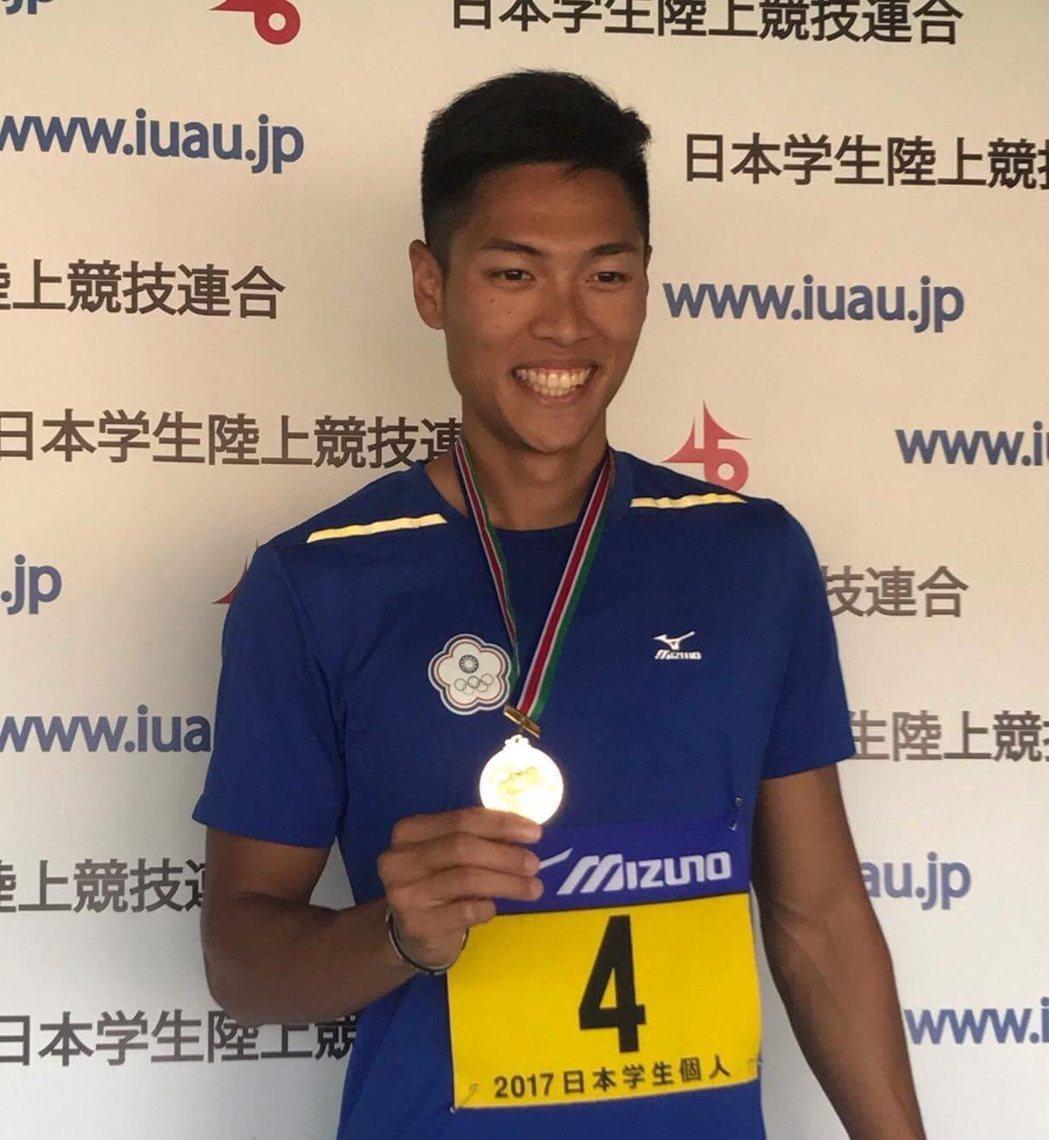 陳傑摘下男子400公尺跨欄金牌。 圖/中華田徑協會提供