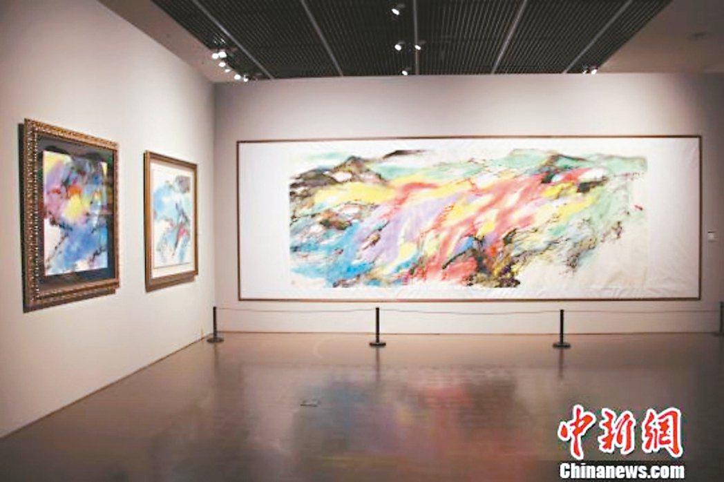 朱振南畫展在上海的展出現場。 中新網