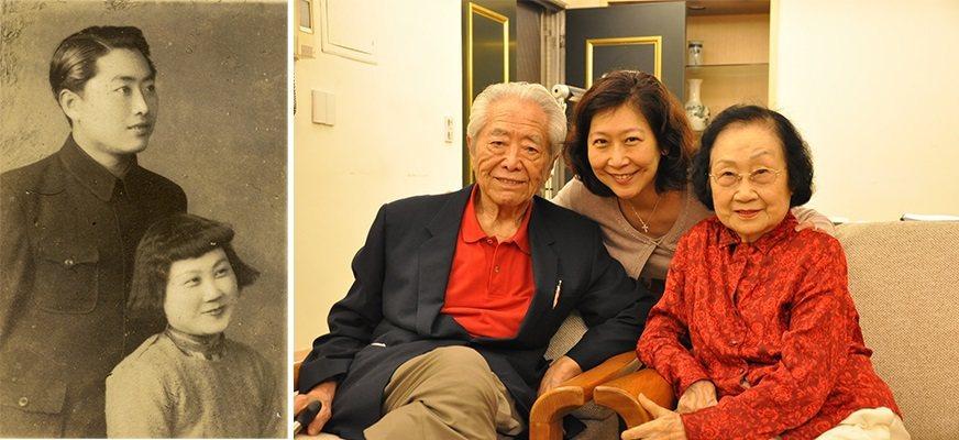 左:紀剛與夫人朱驥女士婚前合影。1945到1947年間,紀剛出任遼北省議會副議長...
