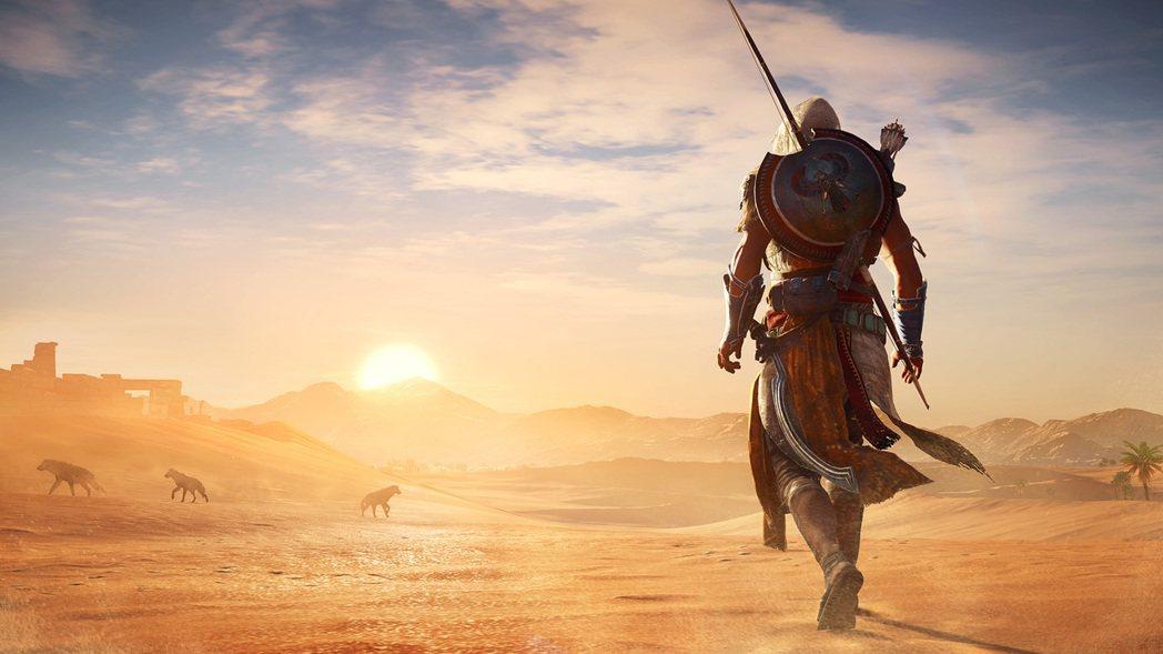 Ubisoft分別公開《刺客教條:起源》實體豪華版與數位黃金版內容。 圖/楊又肇