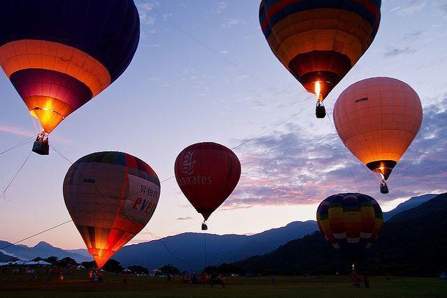 台灣熱氣球嘉年華示意(Flickr授權作者-Jz Chu)
