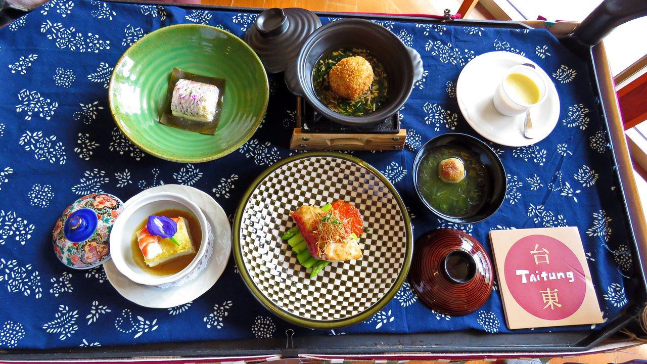 鹿鳴酒店以小米入菜,設計一系列的懷石料理套餐。記者潘俊偉/攝影