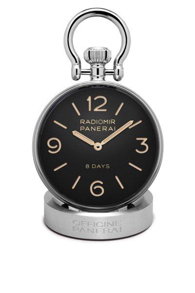 沛納海PAM00581座鐘,16萬8,000元。圖/Panerai提供