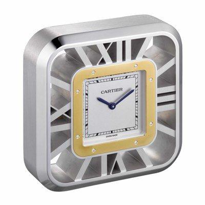 卡地亞Satos 100鏤空座鐘,78萬元。圖/Cartier提供