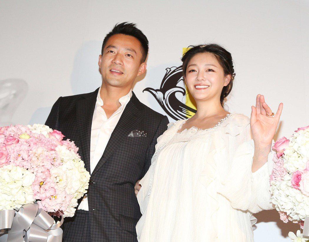 大S(右)、汪小菲出席S Hotel開幕,為自家旅館造勢。記者陳柏亨/攝影