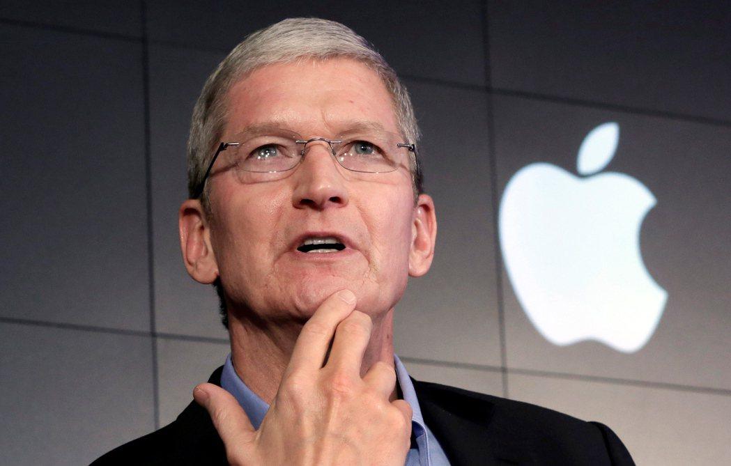 蘋果公司執行長庫克。 美聯社