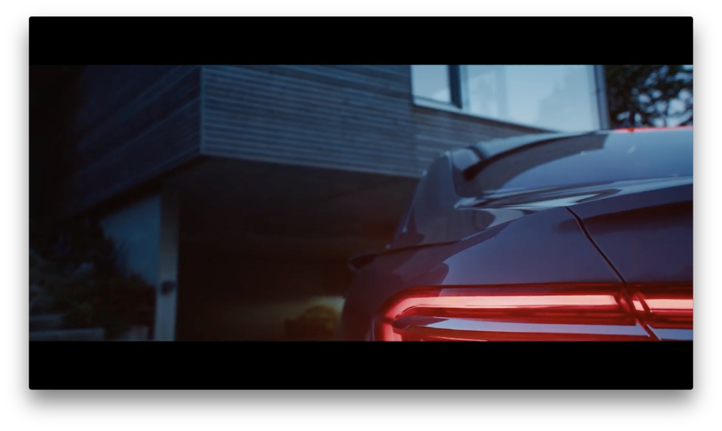New Audi A8美麗的後尾燈。圖/摘自YouTube