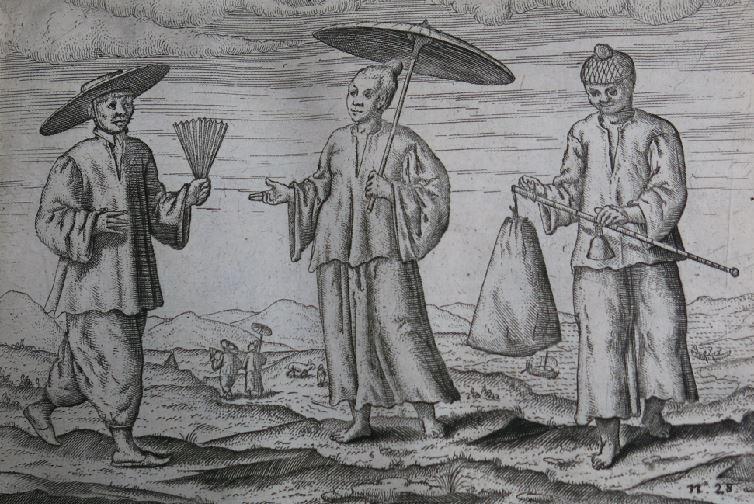 十七世紀「落番」到南洋做生意的中國閩南商人。圖/國立臺灣歷史博物館蒐藏品