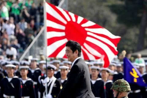 日本首相安倍晉三表示,當前修憲的第一要務,是在2020年將自衛隊加入日本憲法第九...