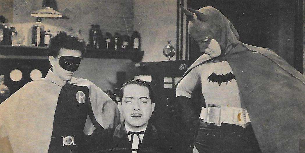 黑白影片「蝙蝠人」反派並非小丑,而是日本間諜。圖/摘自imdb