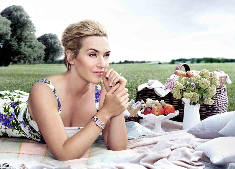 影后凱特溫絲蕾作為浪琴表的代言人,最能詮釋多情系列表款的優雅與浪漫特點。圖/Lo...