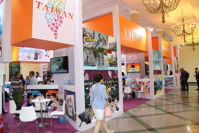 今年上海電視節台灣館再度以176平米刷新了歷年展出的最大的面積紀錄。圖/ 中華節...