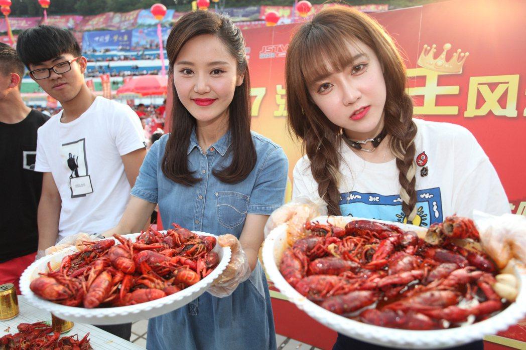 盱眙萬人龍蝦節是當地重要節慶活動。記者劉學聖/攝影