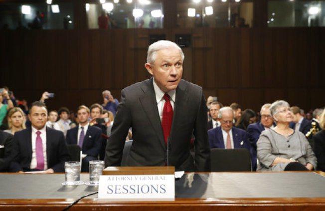 司法部長塞辛斯今至參院聽證。美聯社