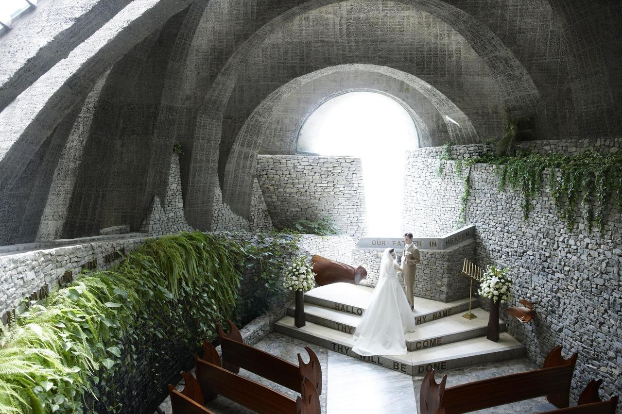 輕井澤的石之教堂,設計與創意都讓人驚嘆。圖/易遊網提供