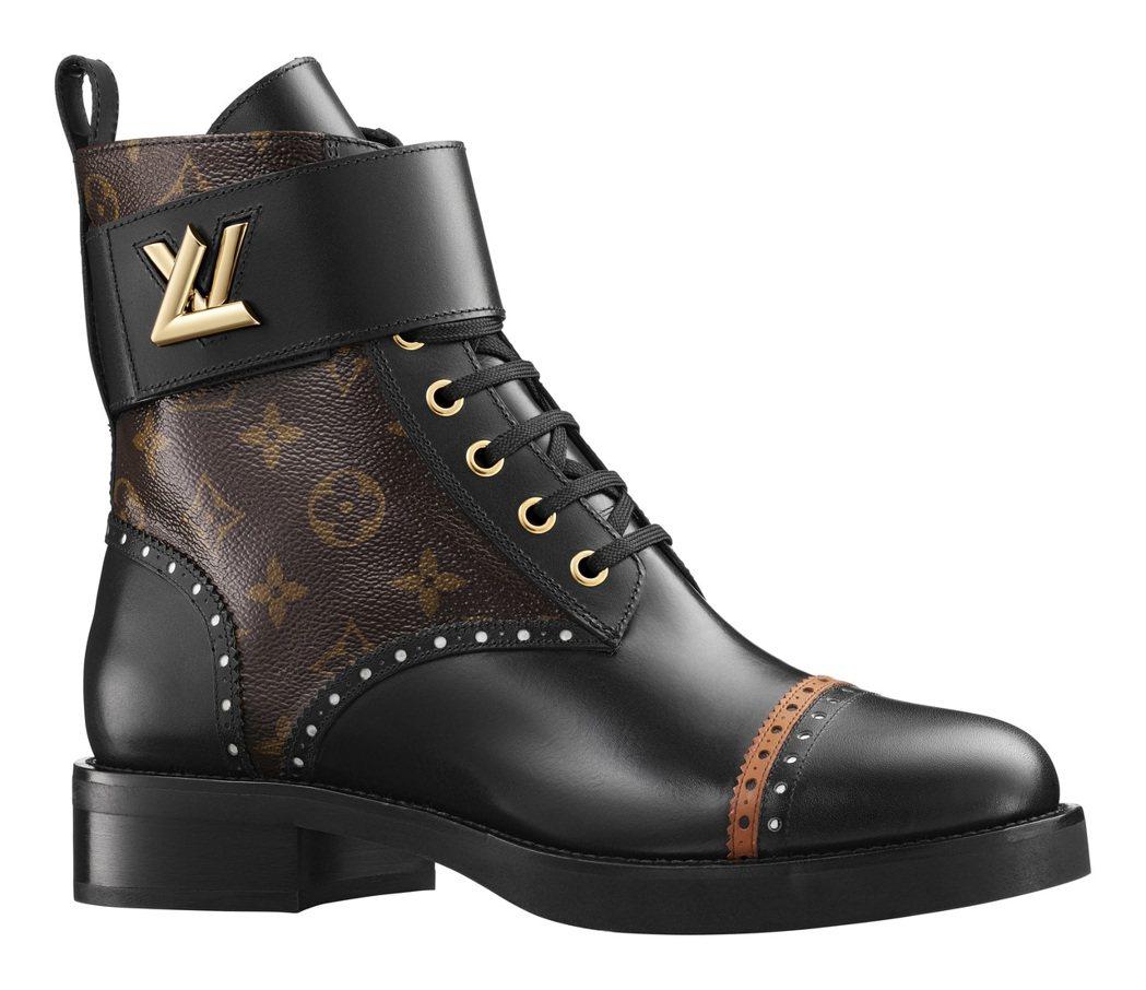 靈感來自經典牛津雕花鞋的Boyish女鞋系列。圖/LV提供