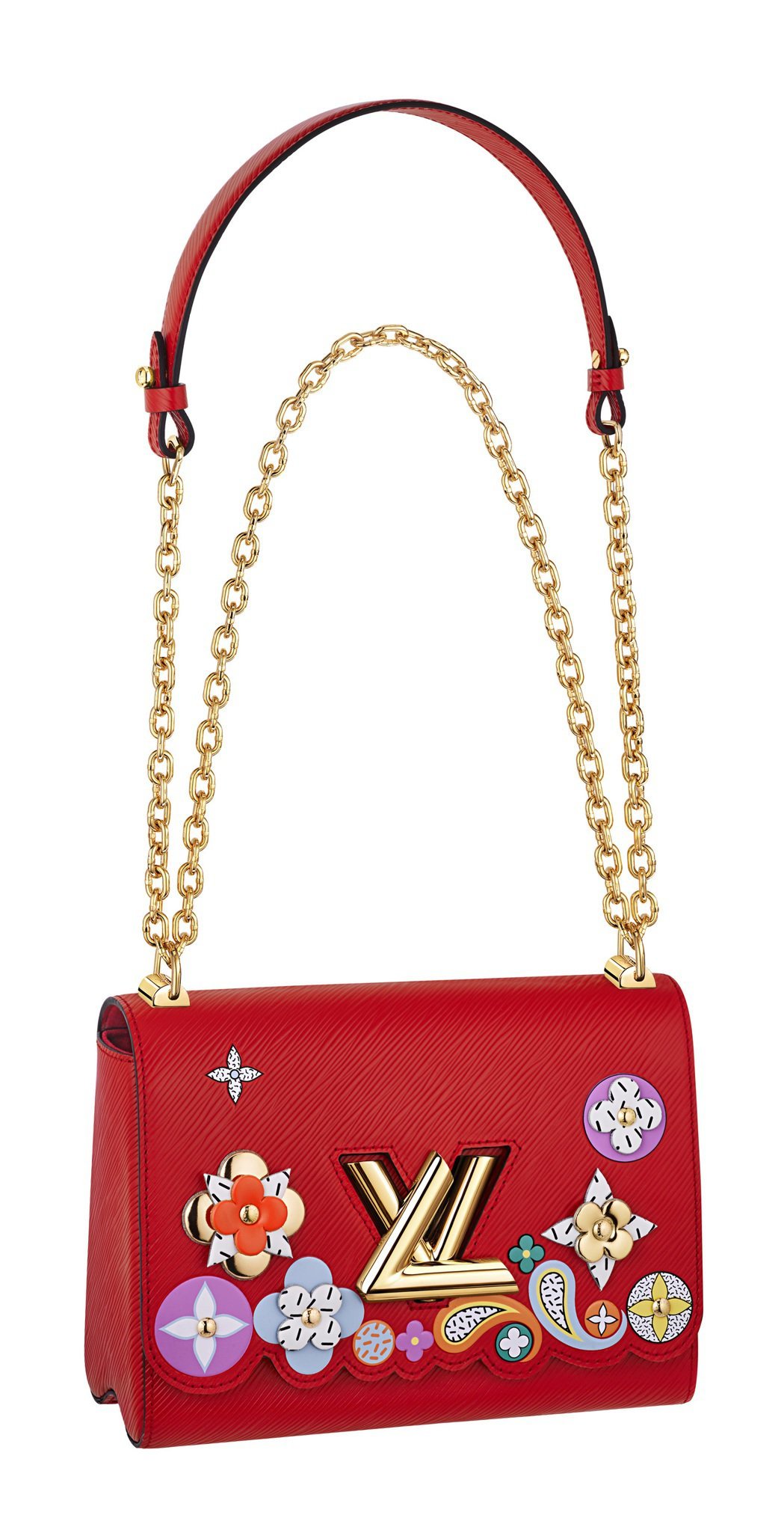Twist包款系列仍是銷售常勝軍,立體皮革花飾是秋冬新款。圖/LV提供