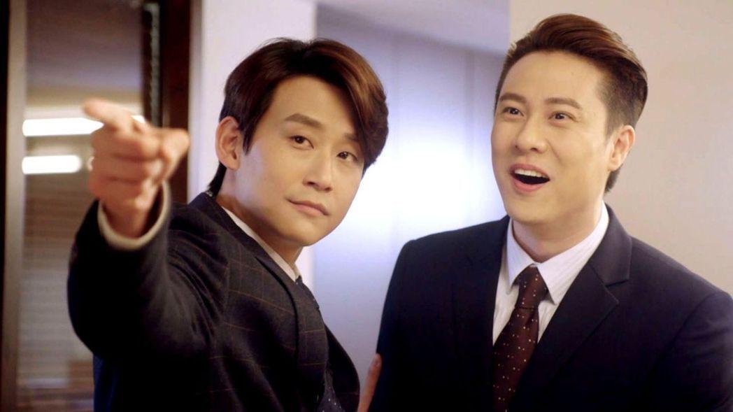 陳乃榮(左)在劇中「黑化」,準備好被觀眾罵翻。圖/三立提供