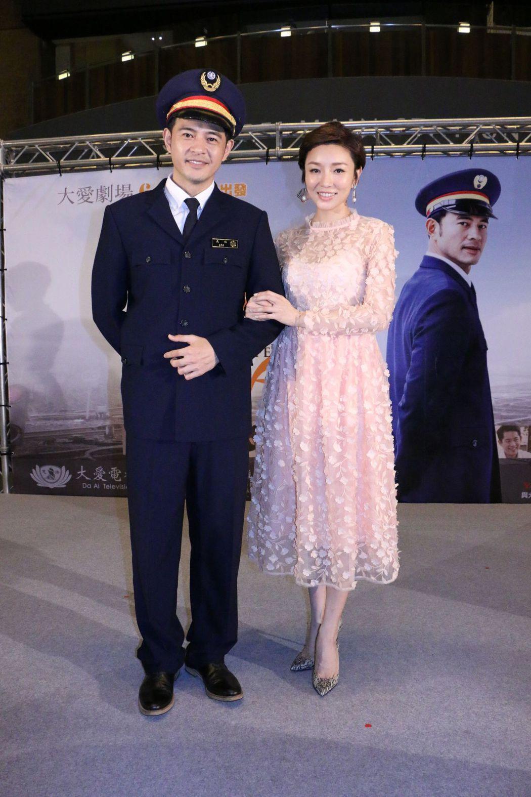 黃玉榮、林可唯在「車站人生」中飾演夫妻。圖/中天、大愛提供