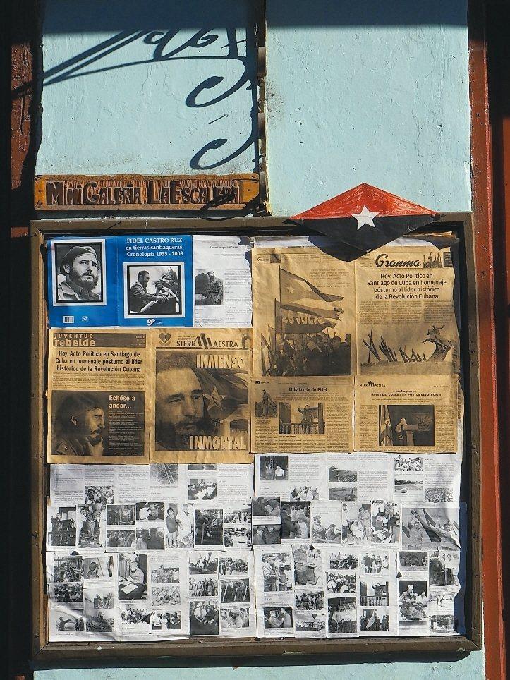 卡斯楚雖已過世. 但他的教條仍深刻影響古巴人的生活。 圖/李俊明