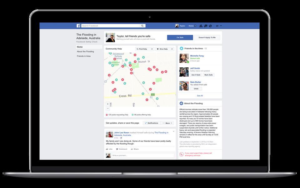 擴展社群協助功能。圖取自Facebook Newsroom