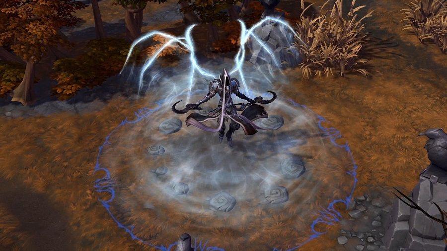 「苦痛亡魂」可使瑪瑟爾獲得20點護甲並釋放靈魂洪流對周遭敵人不斷施加奪魂印記。