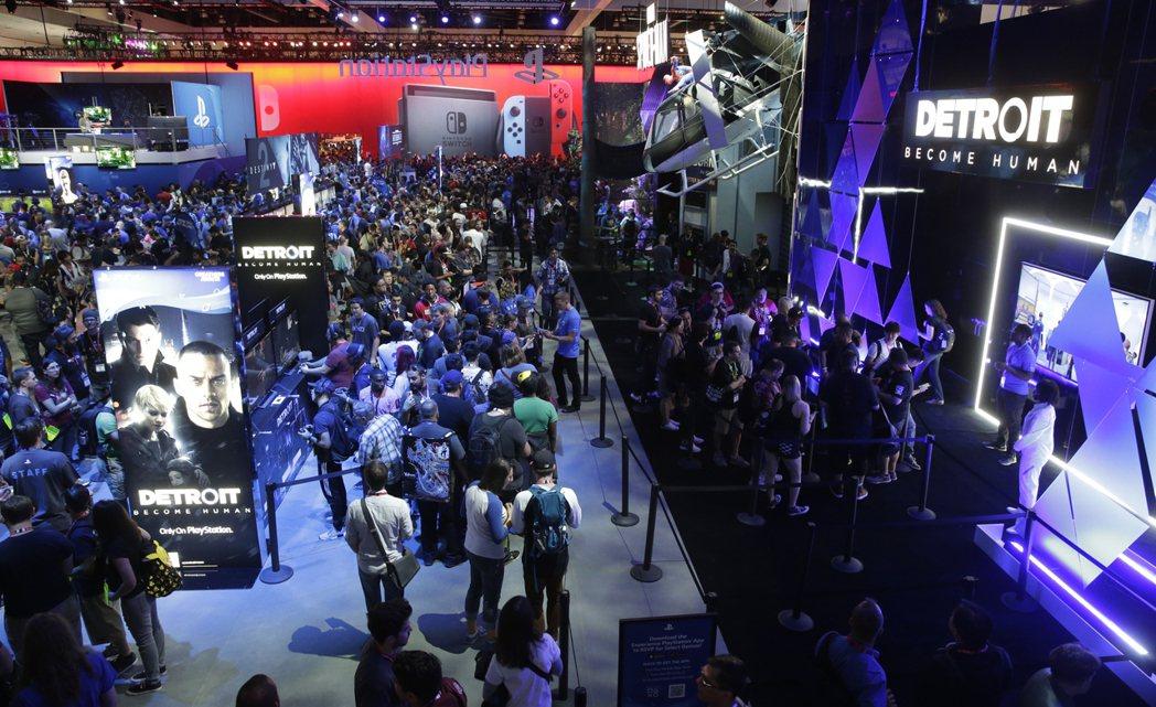 Sony Playstation展場。圖/歐新社