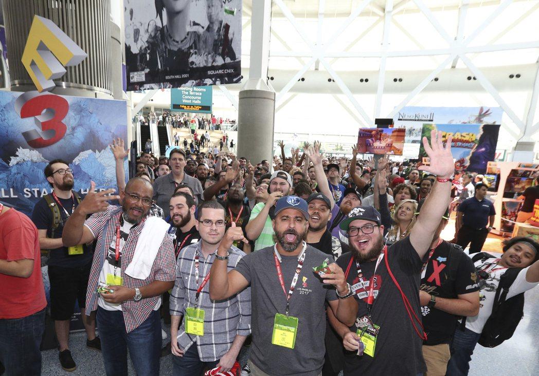 E3 2017參展人潮。圖/美聯社