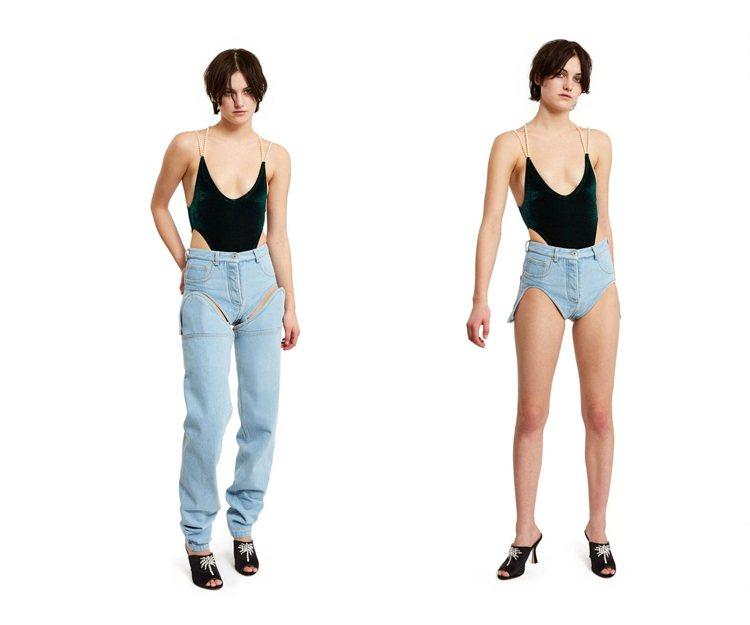 Y/Project 丹寧褲。圖/擷自glamourmagazine
