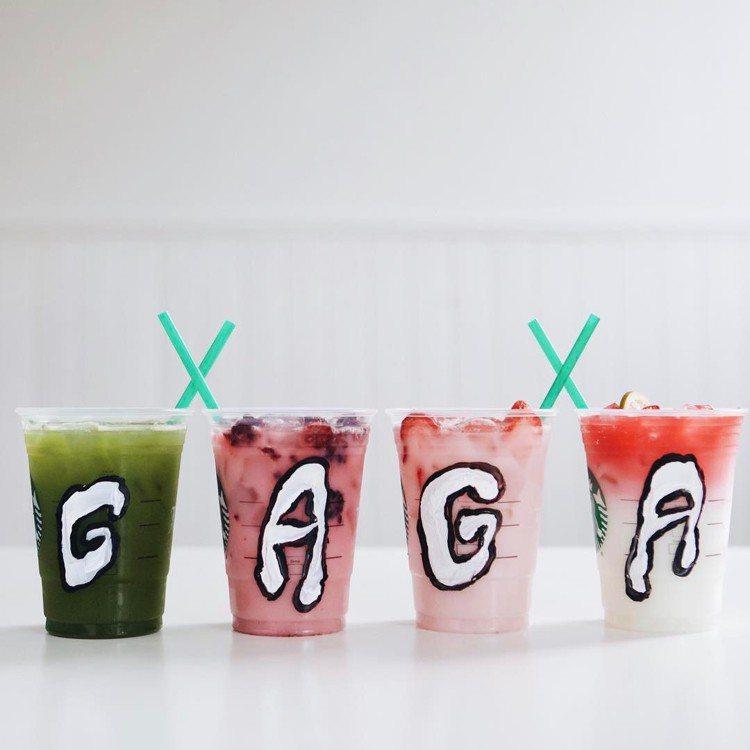 星巴克找來Lady Gaga聯名全新4款彩虹飲品。圖/擷自instagram