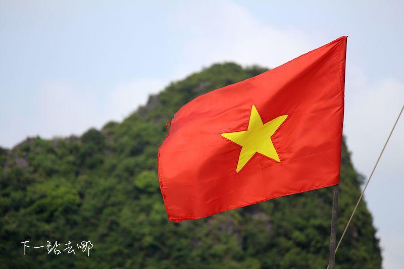 越南國旗。 攝影/賴勳毅