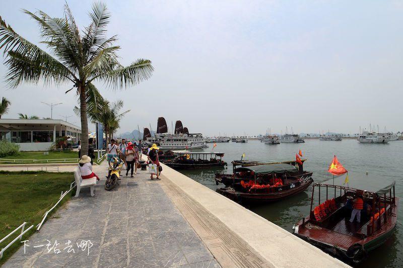 下龍灣搭船碼頭。 攝影/賴勳毅