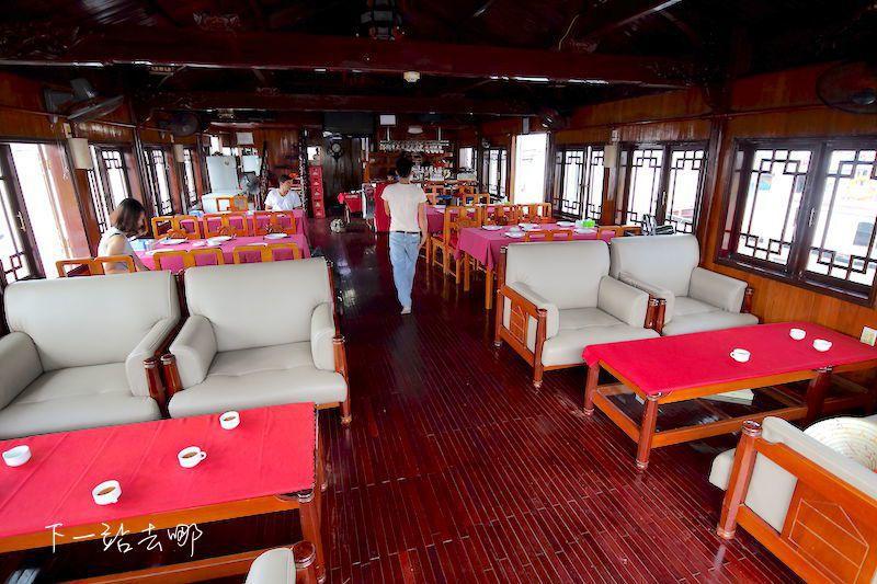 船艙內的餐廳。 攝影/賴勳毅