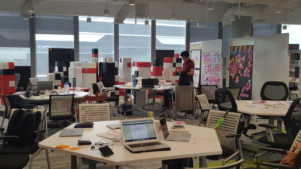 星展銀新加坡創新辦公室。記者楊筱筠/攝影