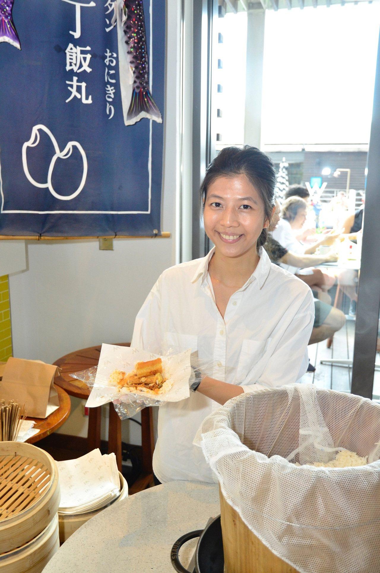 台中美女文青飯糰老闆娘丁丁。圖/台北W飯店提供