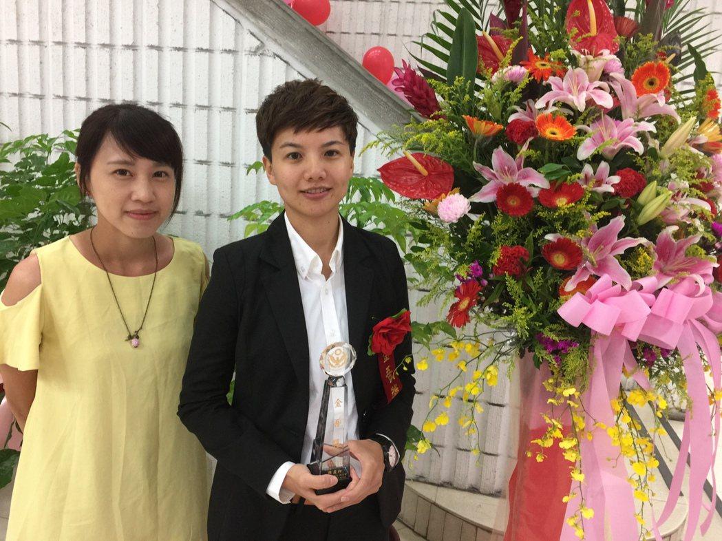 台北市大安分局偵查佐陳盈軒獲選金吾獎,她很開心能被主管機關肯定。記者許家瑜/攝影