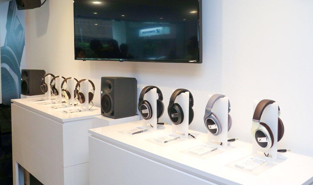 Sennheiser首度來台開設耳機專門店。記者史榮恩/攝影