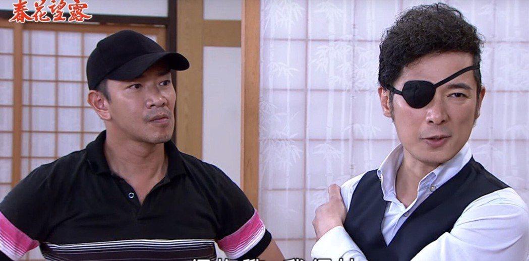 成潤(右)與江俊翰在「春花望露」中有許多對手戲。圖/民視提供