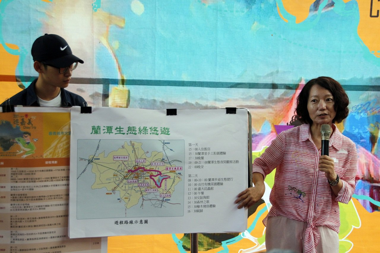蘭潭距離市區不遠,又富有自然生態,是值得遊玩的景點。記者林伯驊/攝影