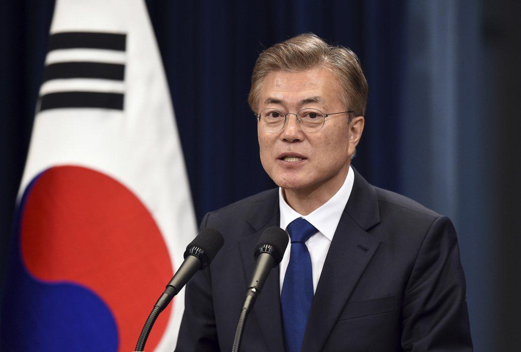南韓總統文在寅昨在南北韓「6‧15共同宣言」發表17週年紀念活動上表示,若「北韓...