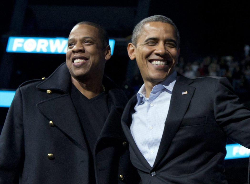 美國饒舌天王傑斯(Jay Z)與美國前總統歐巴馬。 圖/擷自nydailynew
