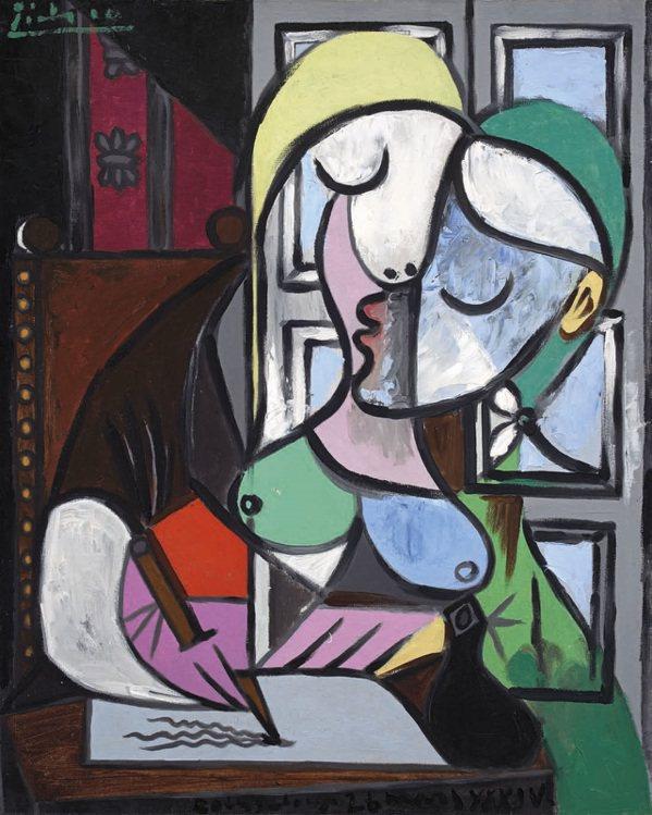 畢卡索為情人瑪麗所繪的「寫信的女人」,6月27日在佳士得倫敦拍賣場亮相,估價達4...