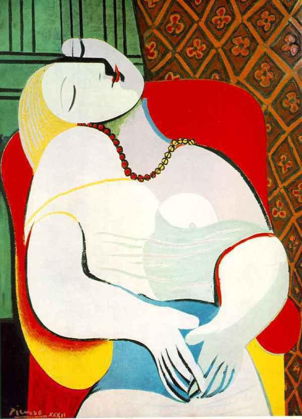 避險基金經理人柯恩以1億5500萬美元向賭場大亨韋恩買下畢卡索名畫「夢」。 圖/...