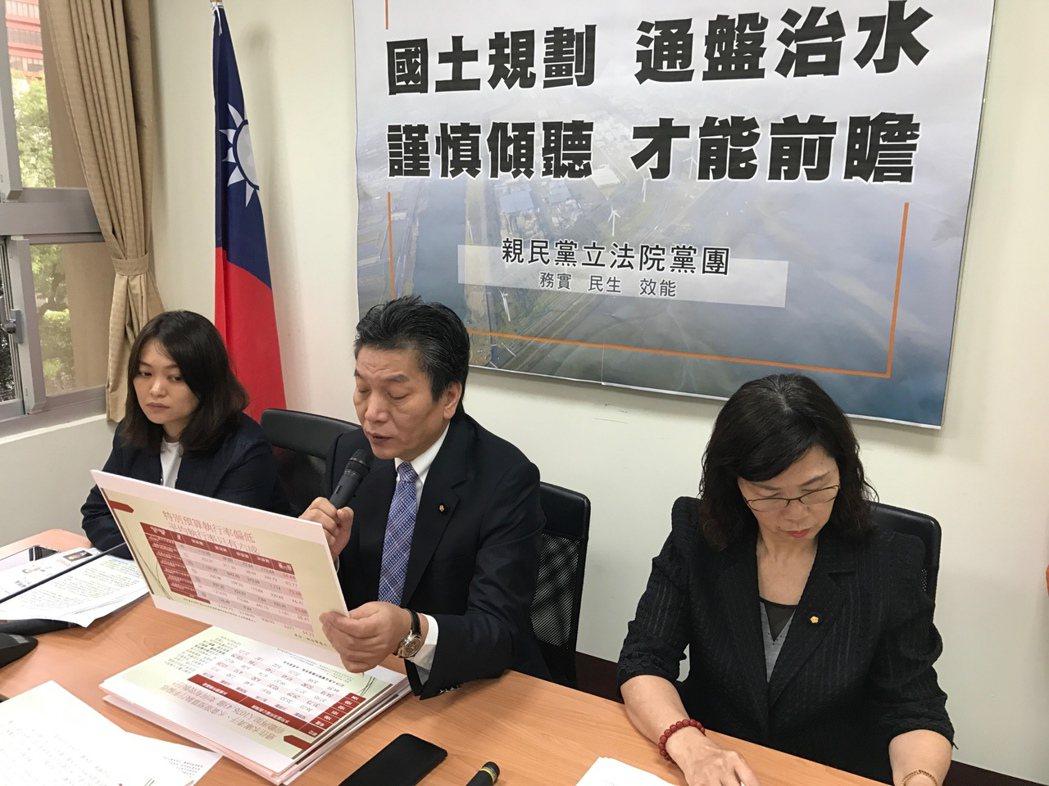 親民黨立院黨團總召李鴻鈞表示,基於立院正在舉行臨時會,且擔心梅雨季台灣出現災情,...