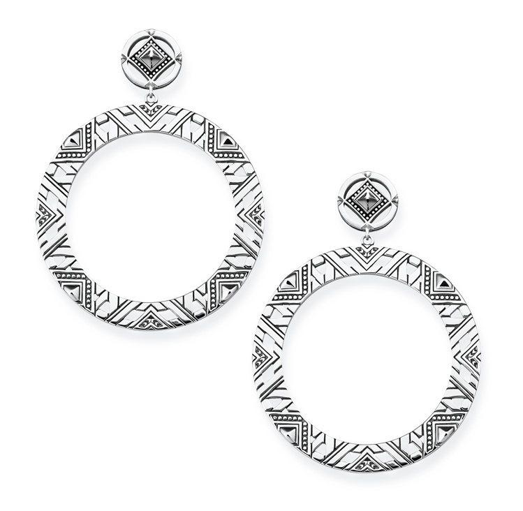 幾何圓形中空耳環,8,980元。圖/THOMAS SABO提供